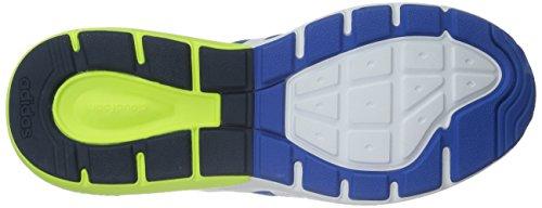 Adidas Neo Zapato Flujo Cloudfoam De Los Hombres Azul / Blanco / Amarillo Vista económica Vista de liquidación 4ThgSw