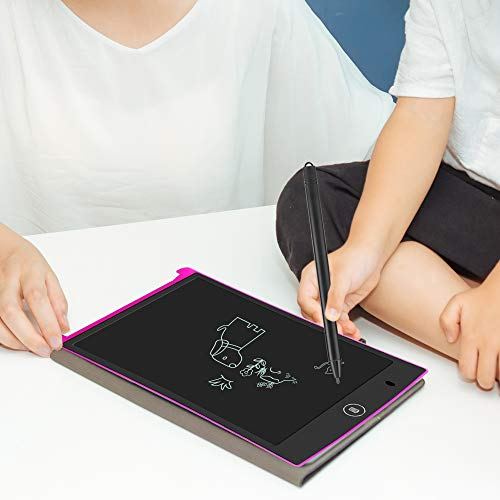 """LCD Writing Tablet,Electronic Writing &Drawing Board Doodle Board,Sunany 8.5"""" Handwriting Paper Drawing Tablet Gift for Kids and Adults at Home,School and Office (Pink)"""