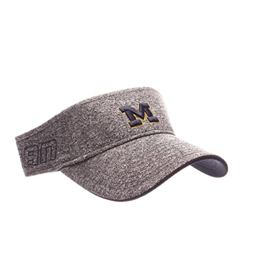 Zephyr NCAA Michigan Wolverines Adult Men Slice Visor,Adjustable,Heathered (Michigan Wolverines Team Visor)