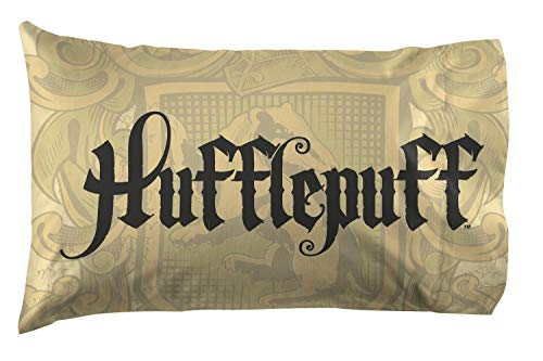 Jay Franco Harry Potter House of Hufflepuff Super Soft Double-Sided 1 Pack Pillowcase, Gold ()