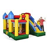 Costzon Mighty Inflatable Bounce House, Castle Jumper Moonwalk Slide Bouncer, Kids Jumper