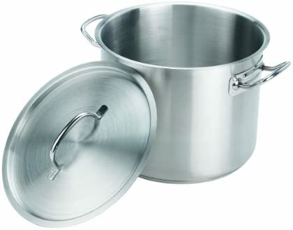 Crestware 12-Quart Stainless Steel Stock Pot with Pan Cover