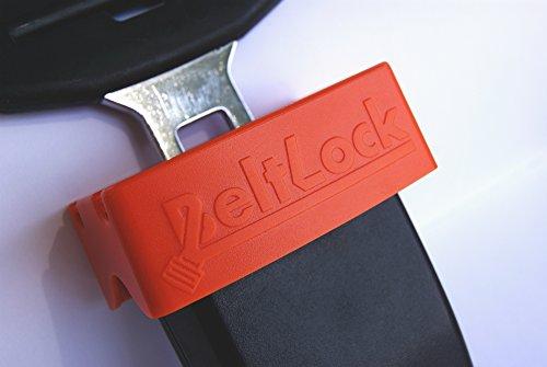 GanEn Car Belt Lock Buckle Guard The Seatbelt Securing seat Beltlock Red