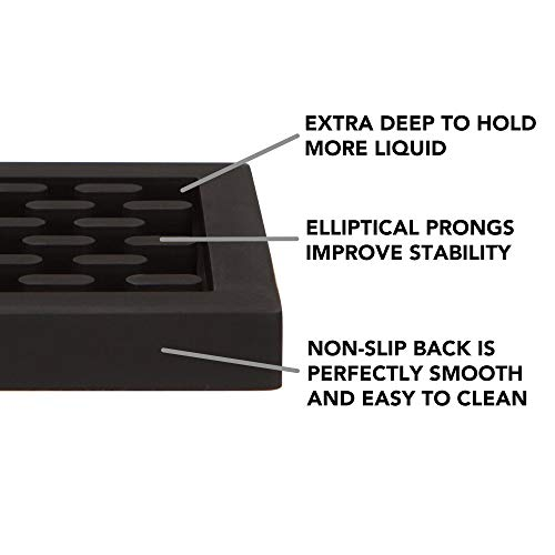 Heavy Duty Silicone Bar Service Mat: (3.25'' x 18'') Food safe, Commercial Strength Bar & Restaurant Service Mat by Top Shelf Bar Supply (Image #3)