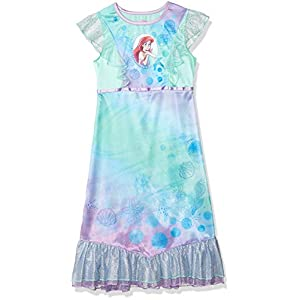 Disney Girls Princess Little Mermaid Ariel Dreamy Dress Up Nightgown