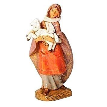 Roman Fontanini Emma the Shepherdess and Lamb Nativity