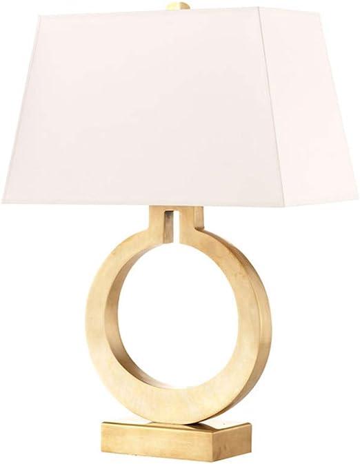 CQ Lámpara de Mesa Dorada Dormitorio Lado Simple Personalidad ...