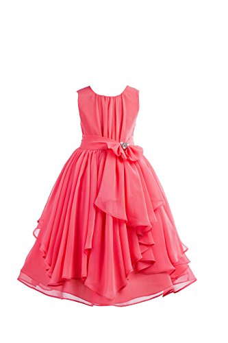 Chiffon Jeweled Dress - ekidsbridal Yoryu Chiffon Junior Flower Girl Dresses Christening Dress Ballroom Gown 162S 12