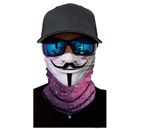 Multifunctional Stretchable Sport Scarf, UV 50+ Headwear Outdoors Head Wrap Magic Scarf Neck Balaclava ()