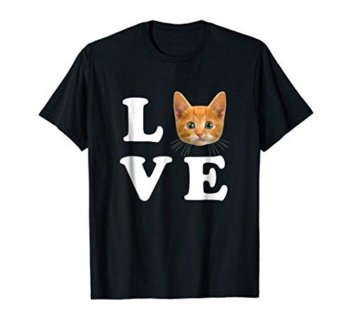 Love Orange Cat Shirt I Heart Love Cats Shirt Cat Lover Gift