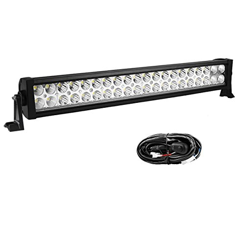 YITAMOTOR 24 Inch Light Bar Offroad Spot Flood Combo Led Bar Waterproof Dual Row LED Work Light with Wiring Harness for Truck, 4X4, ATV, Boat, Jeep, 120W - 10,800 Lumens, 3 Year Warranty