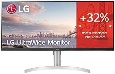 LG 29WN600-W.AEU - Monitor UltraWide Plano 29 (Panel IPS: 2560x1080, 21:9, 400nit, 1000:1, sRGB>99%), Diagonal 73 cm, Entrada: HDMIx2, DPx1, AMD FreeSync, Altavoces 2 x 7 W, Color Blanco: Amazon.es: Informática