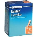 LANCETS UNILET EXCELITE 23G 100 EACH
