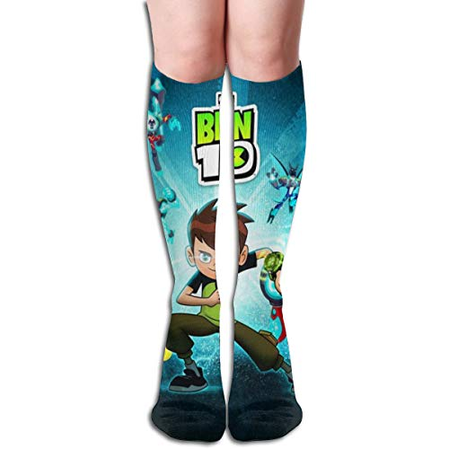 VIXXLH Mens Women High Knee Stockings Ben Handsome 10 3D Printed Boys Girl Soft Sock Performance Christmas Unisex Adult Long Socks -