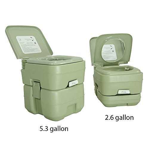 PARTYSAVING New 2.6 Gallon Travel Outdoor Camping Boat Portable Toilet Potty, APL1013 (Portable Boat Seats)