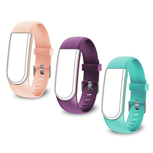 LETSCOM TPE Replacement Straps for LETSCOM Fitness Tracker ID101 / ID101HR - 3 Pack
