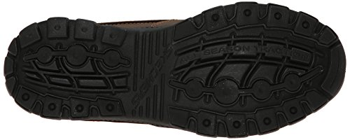 Skechers Mens Brave Rayland Slip-on Mocassino In Pelle Marrone Scuro