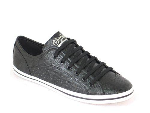 Buffalo Women S Sneaker Black 507 Croco Pu Amazon Co Uk Shoes Bags