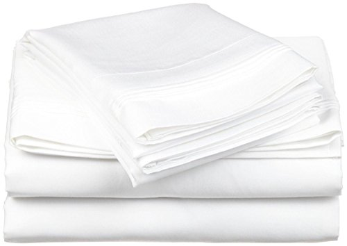 Rinku Linen Export Quality 600 Thread Count Egyptian Cotton 4-Piece Sheet Set Cot Bed (30