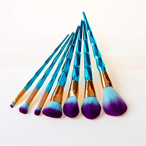 Makeup Brushes Set 7Pcs Face Contour Concealer Soft Natural Synthetic Hair Powder Eyeshadow Kabuki 05