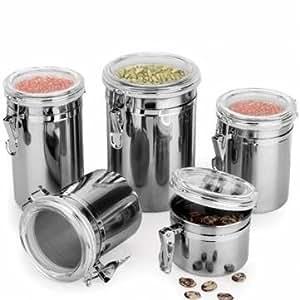 Durable acero inoxidable recipiente hermético sellado recipiente para especias en seco Almacenamiento comida Snack latas