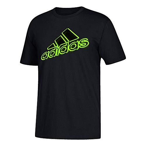 - adidas Men's Adi Hi Def Neon Logo Black T-Shirt (S)