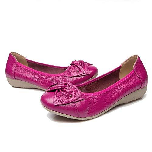 Plates coloré Pure Couleur Beige uk7 Rouge Rose 5 Cuir Confortables Us9 eu40 Eu38 Cn38 Oudan Pour Chaussures 2 Uk5 En Taille cn41 Blue Dames Us7 De 5 Sport PzMx0vUwq