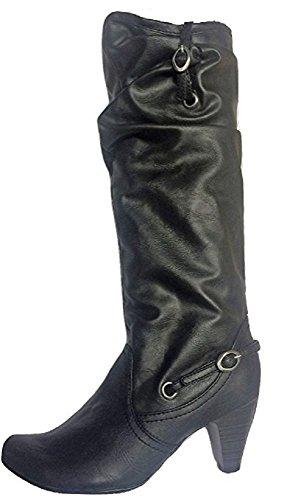 Tone Boots Detalj Spenne To Dune Pladask Black Rouch YE6wq7q