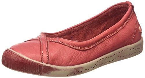 Softinos Dames Ilma Gewassen Gesloten Flat Rood (red)