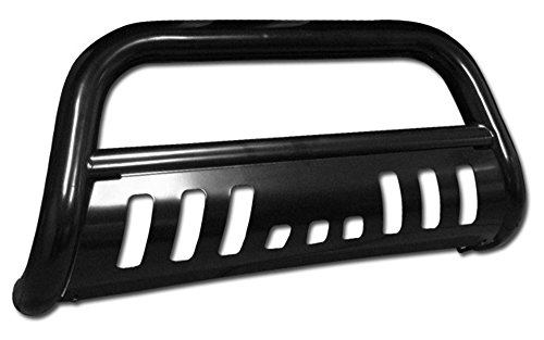 Black Front Bumper Bull Bar Guard For 1999-2007 Ford F250 / F350 / F450 / F550 Superduty Models ( Will Not Fit Harley Davidson Edition Models ); 2000-2005 Ford Excursion All Models