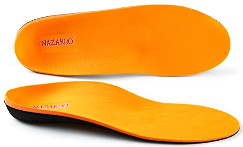 Orthotics for Flat Feet by NAZAROO, Shoe Inserts Arch Support Insoles Fight Against Plantar Fasciitis, Relieve Feet Pain, Heel Pain and Pronation for Men and Women (US Mens 4-4.5 | Womens 6-6.5)