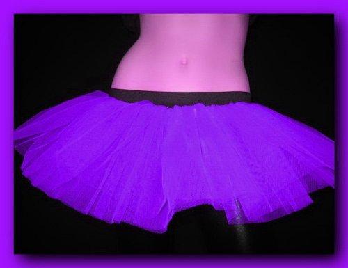 Punk Dance Costumes (Purple Mini Tutu Rave Punk Dance Party Costume One Size)