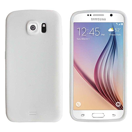 - Fenzer White Silicone Soft Rubber Gel Case Cover Skin for Samsung Galaxy S6 GS6