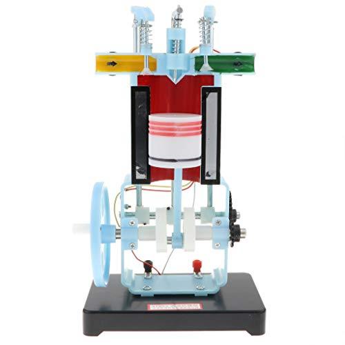 Flameer Mini Diesel Engine Model 4 Stroke Gasoline Engine Model Toy - Demonstrate Engine Working Principle