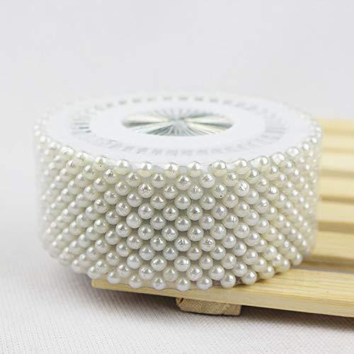 Pincushions - Set of 4800pcs White Round-Head Pearl Decorating Pin Dressmaking Pin Xmas Gifts by Laliva