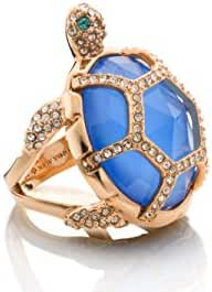 Kate Spade Paradise Found Blue Crystal Turtle Ring