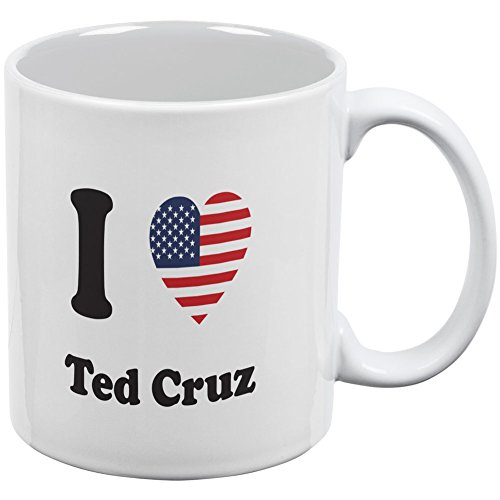 Election 2016 - I Heart Ted Cruz White All Over Coffee Mug
