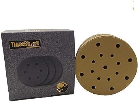 6 inch 17-Hole Sanding Disc Dry Sandpaper 80#-600# Grit Hook And Loop Waterproof
