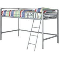 Home Life Twin Junior Loft Metal Bunk Bed - Silver