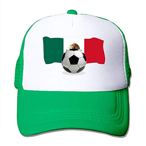 Two Trucker Soccer béisbol Mesh Adjustable Gorras Mexico Tone with Flag NDJHEH Hat Ball Hat qnwCfSExE