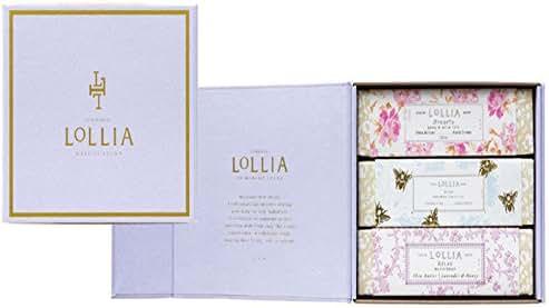 Lollia 3 Piece Travel Handcreme Box Set with Free Little Luxe Eau de Parfum Splash