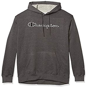 Fashion Shopping Champion Men's Powerblend Fleece Pullover Hoodie, Applique Script