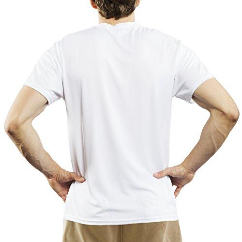 Switzerland Men's Short Sleeve Eco-Friendly Running T-shirt by Split Time XX-Large White