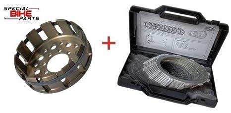 Ducati para secar embrague 12Z aluminio, kevlar Mix blando surflex + Ducati aluminio cesta Hardcoat: Amazon.es: Coche y moto