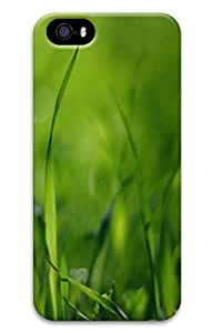 Green Gras Cover Case Skin for iPhone 5 5S Hard PC 3D