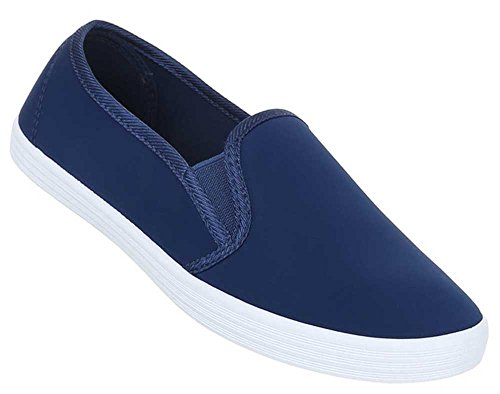 Damen Schuhe Halbschuhe Bequeme Slipper Trend im Sommer 2016 Blau
