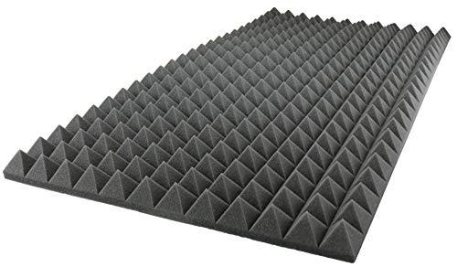 Acoustic Foam Sound Absorption Pyramid Studio Treatment Wall Panel, 48 X 24 X 2