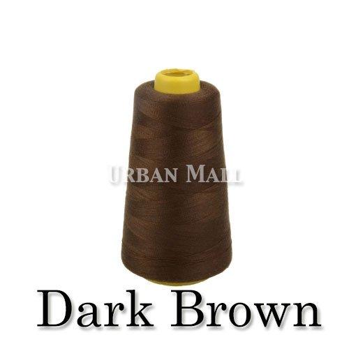 6000 Yards Dark Brown Sewing Thread All Purpose 100% Spun Po