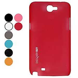 Buy Elegant Fashion Hard Protective Case for Samsung Galaxy Note 2 N7100 (Assorted Colors) , Red